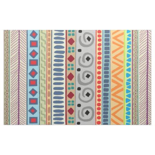 Aztec Tribal 56 inch cotton fabric