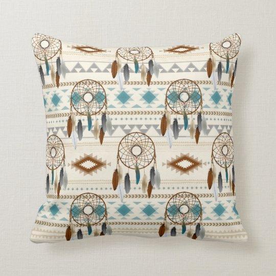 Aztec Tribal Dream Catchers Neutral Browns & Teal