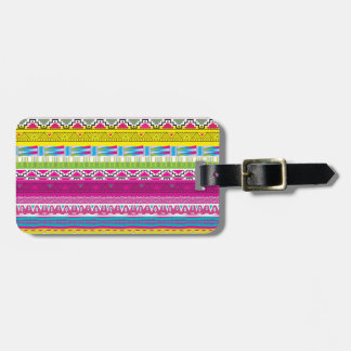 Aztec tribal Hipster Luggage Tag