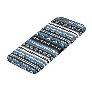 Aztec Tribal Pattern / Blue Grey White Black Barely There iPhone 6 Case