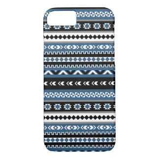 Aztec Tribal Pattern / Blue Grey White Black iPhone 7 Case