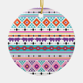 Aztec Tribal pattern graphic Christmas Ornament