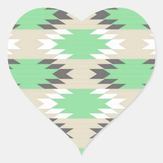 Aztec Tribal Pattern Heart Sticker
