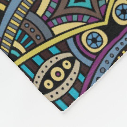 Aztec Tribal pattern home decor throw blanket