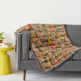 Aztec Tribal pattern home decor throw blanket