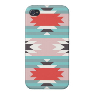 Aztec Tribal Pattern Native American Prints iPhone 4/4S Covers