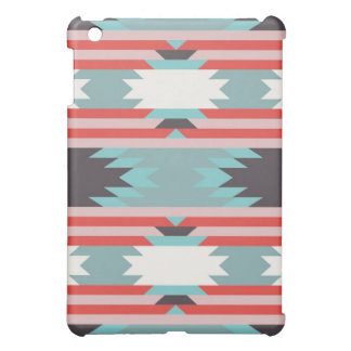 Aztec Tribal Pattern Native American Red Blue iPad Mini Cases