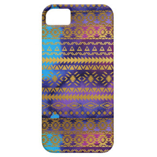 Aztec Tribal Pink, Purple, Aqua & Gold Watercolor iPhone 5 Cover