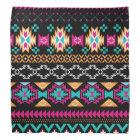 Aztec Tribal print hot pink turquoise black Bandana