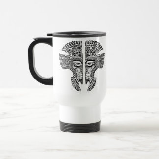 Aztec Twins Stainless Steel Travel Mug