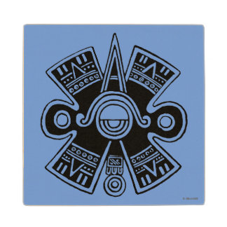 Aztec Universe Wood Coaster