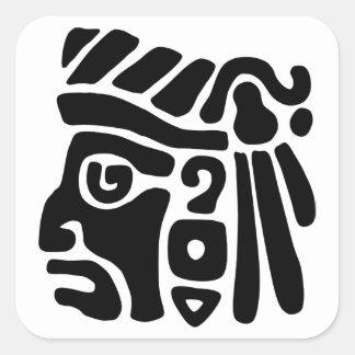 Aztec Warrior Square Sticker