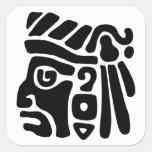 Aztec Warrior Square Stickers