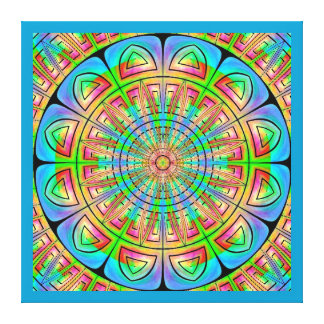Aztec Wheel Wrapped Canvas