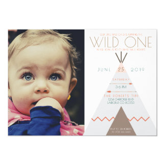 Aztec Wild One | First Birthday Photo Invite