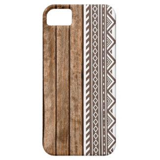 Aztec wood panel print iPhone 5 cases