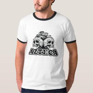 AZTECA Retro-skulls Ringer B/W T-shirt