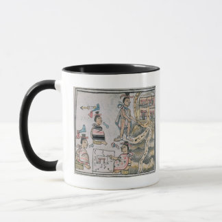Aztecs consulting and following a map mug