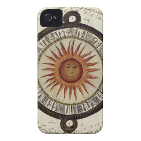 Aztecs Mexican Calendar Sundial Sun 1790 vintage iPhone 4 Covers