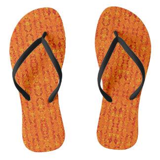 Aztek Orange flip flops