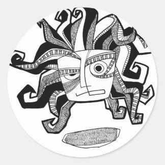 Aztek Sun Classic Round Sticker
