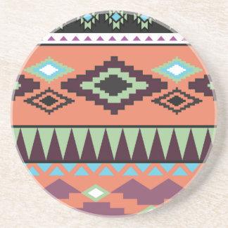 Aztek Tribal Southwestern Geometric Coaster