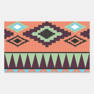 Aztek Tribal Southwestern Geometric Rectangular Sticker