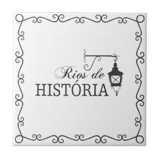 Azujejo Rivers of History Tile