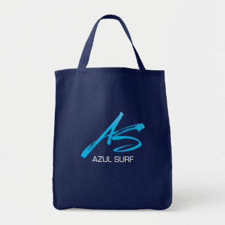 Azul Surf Brush Style Grocery Tote Bag