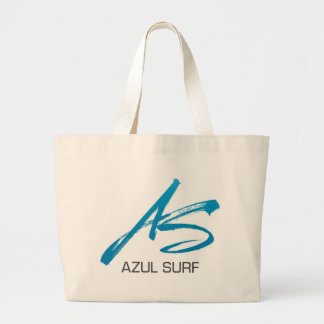Azul Surf Brush Style Jumbo Tote Bag