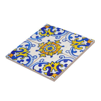 Azulejo Art Small Square Tile