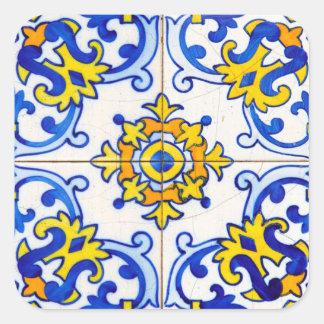 Azulejo Art Tile Square Sticker