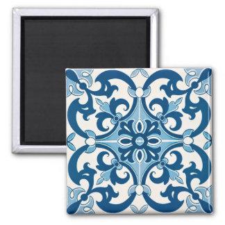 Azulejo Fleur De Lis Style Pattern Magnet