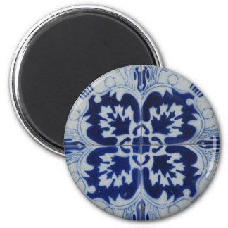 Azulejo flower refrigerator magnets