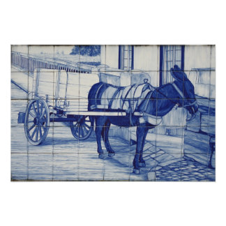 Azulejo mural poster