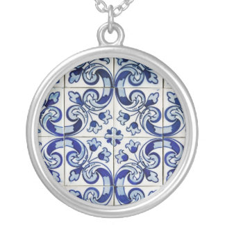 Azulejo Silver Plated Necklace