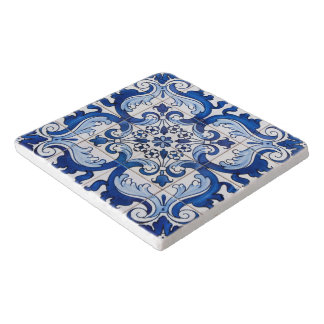 Azulejo Tile Floral Pattern Trivet