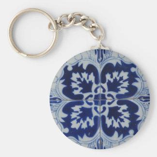 Azulejo tile keychain