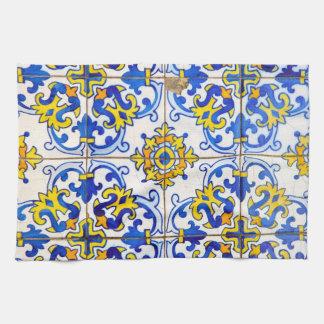 Azulejos Ceramic tiles Tea Towel