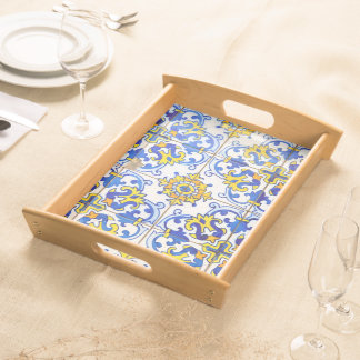 Azulejos Pattern Serving Tray