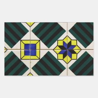 Azulejos Portuguese Tiles Autocolantes Retangular