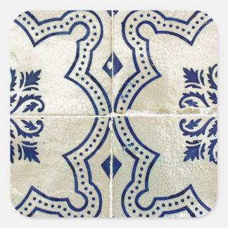 Azulejos, Portuguese Tiles Square Sticker