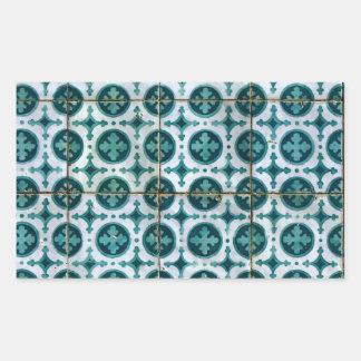 Azulejos Portuguese Tiles Autocolante Em Forma Retangular