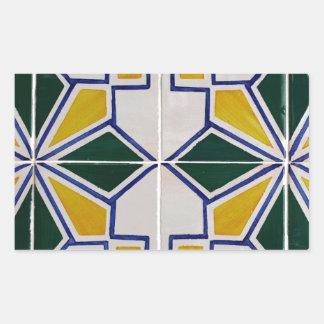 Azulejos Portuguese Tiles Autocolantes Em Forma Retangular