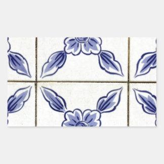 Azulejos Portuguese Tiles Autocolante Em Formato Retângular
