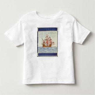 Azulejos tile depicting a ship, from Sagres Toddler T-Shirt