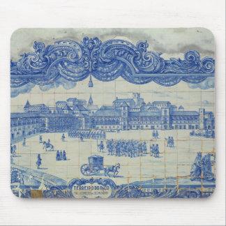 Azulejos tiles depicting the Praca do Comercio Mouse Pad