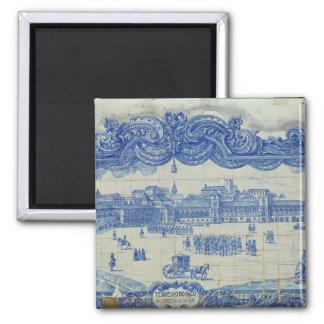 Azulejos tiles depicting the Praca do Comercio Square Magnet