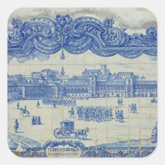 Azulejos tiles depicting the Praca do Comercio Square Sticker