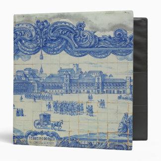 Azulejos tiles depicting the Praca do Comercio Vinyl Binder